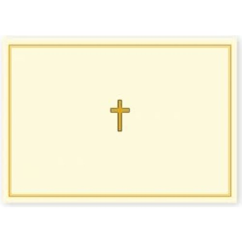 NOTE CARDS - GOLD CROSS by Peter Pauper Press