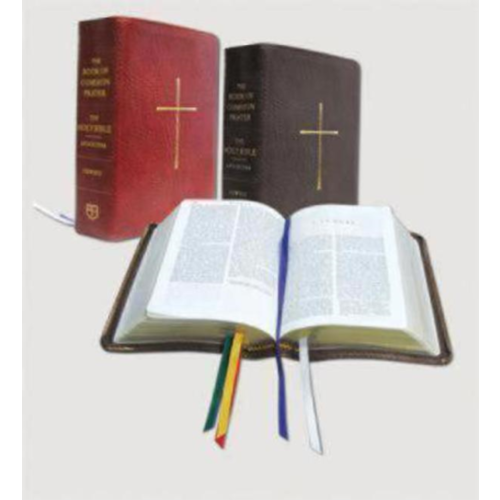 BOOK OF COMMON PRAYER AND HOLY BIBLE, NRSV, RED BONDED LEATHER