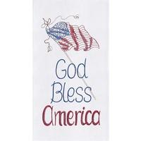 TOWEL FLOUR SACK GOD BLESS AMERICA