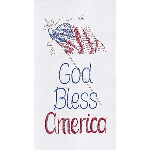 TOWEL FLOUR SACK GOD BLESS AMERICA