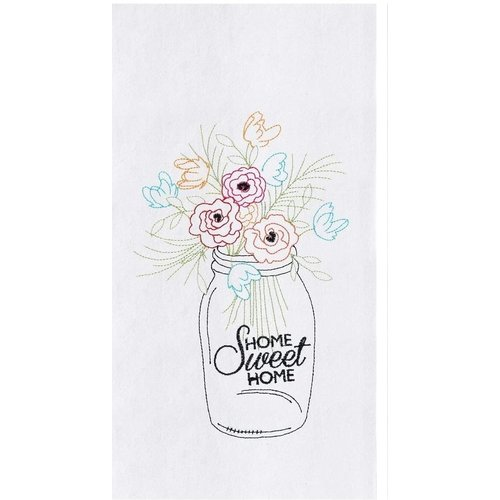 FLOUR SACK TOWELS EMBROIDERED
