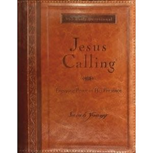 JESUS CALLING: LARGE PRINT (Brown Leathersoft) by SARAH YOUNG