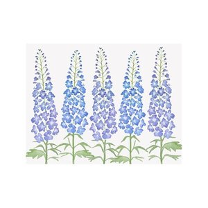 NOTE CARDS - DELPHINIUM, Box of 8