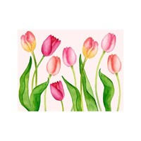 NOTE CARDS - TULIP FLORAL, Box of 8