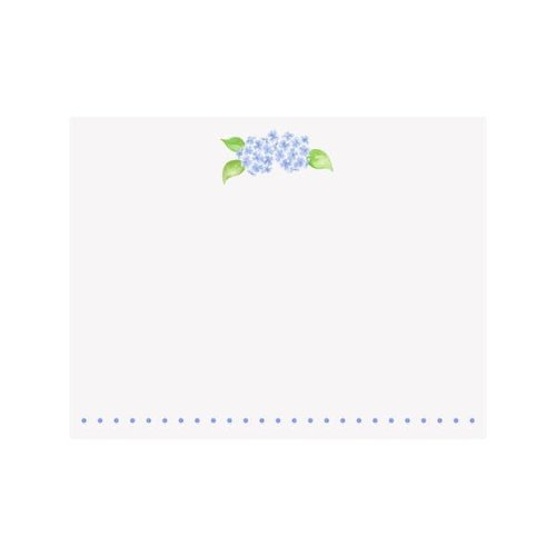 NOTE CARDS FLAT - HYDRANGEA, Box of 10