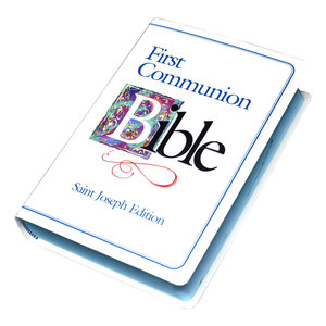 NEW AMERICAN BIBLE (NAB) SAINT JOSEPH FIRST COMMUNION EDITION IN BLUE