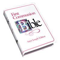 NEW AMERICAN BIBLE (NAB) FIRST COMMUNION PRESENTATION BIBLE IN PINK