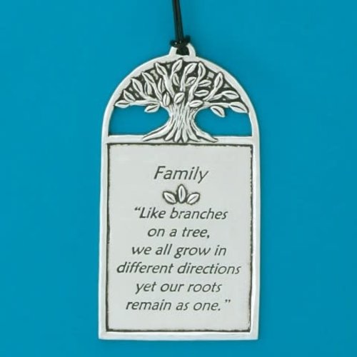 PLAQUE PEWTER FAMILY 5X2.5 from Basic Spirit