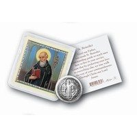 POCKET COIN ST BENEDICT with PRAYER CARD