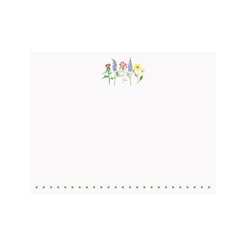 NOTE CARDS FLAT - WILDFLOWERS, Box of 10