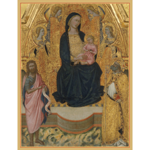 Virgin And Child Enthroned Boxed Christmas Cards by CASPARI