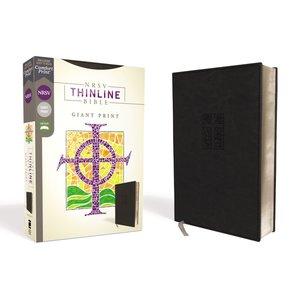 NRSV Thinline Bible, Giant Print Leathersoft Black, Comfort Print
