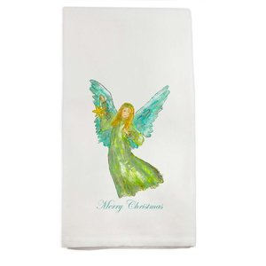 FRENCH GRAFFITI TOWEL ANGEL WITH STAR
