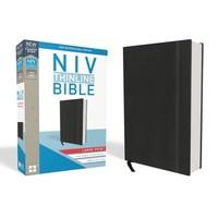 NIV THINLINE BIBLE, LARGE PRINT, HARDCOVER, BLACK, RED LETTER