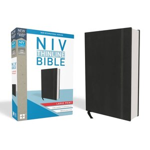 NIV THINLINE BIBLE, LARGE PRINT, HARDCOVER, BLACK, RED LETTER