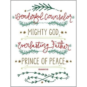Wonderful Counselor Boxed Christmas Cards by Gina B Designs