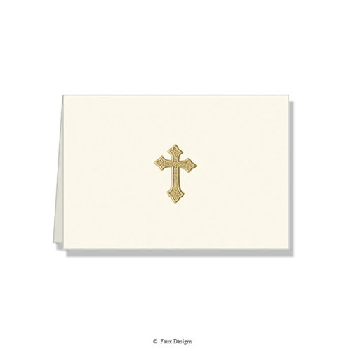 GOLD ACCENT NOTE CARDS Gold Cross