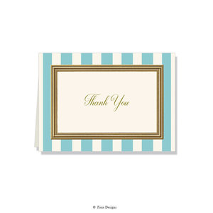 GOLD ACCENT NOTE CARDS Stripes - Thank You