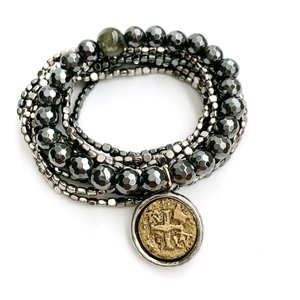Bracelet Coin Stack Statement by Erin Gray