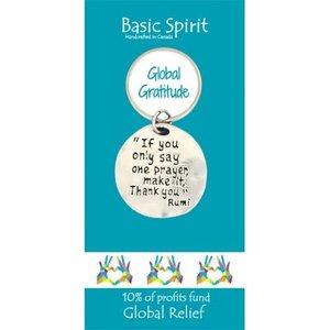 PEWTER KEY CHAIN ONE PRAYER from Basic Spirit