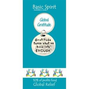 PEWTER KEY CHAIN GRATITUDE from Basic Spirit