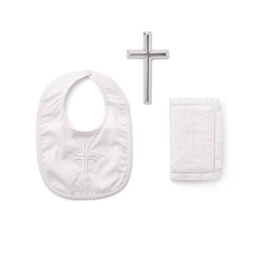 Christening Bible Cross Bib Set Boy's by Elegant Baby