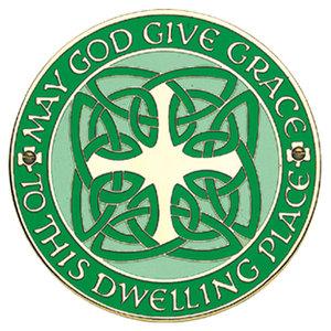 """DOORSIGN CELTIC HOUSE BLESSING 4 1/4"""" GREEN"""