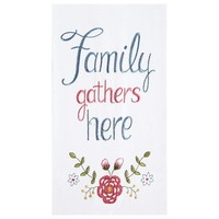TOWEL FLOUR SACK FAMILY GATHERS HERE