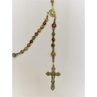 ROSARY Baroque Crucifix Red Creek Jasper by Full Circle Beads