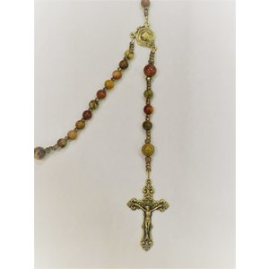 ROSARY Baroque Crucifix Red Creek Jasper by Full Circle Beads