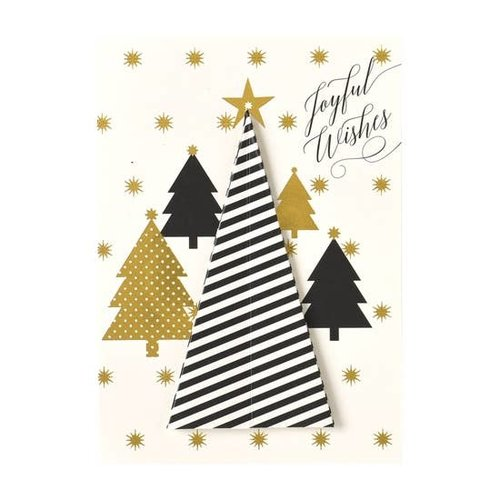 Striped Tree Boxed Christmas Cards  by ANNA GRIFFIN