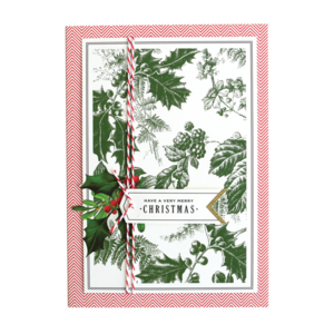 Green Holly Have Yourself a Merry Boxed Christmas Cards  by ANNA GRIFFIN