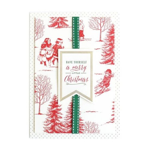 Red Toile Have Yourself a Merry Boxed Christmas Cards  by ANNA GRIFFIN