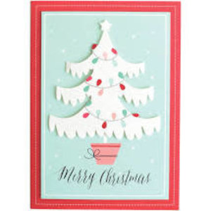 GLITTER TREE Boxed Christmas Cards  by ANNA GRIFFIN
