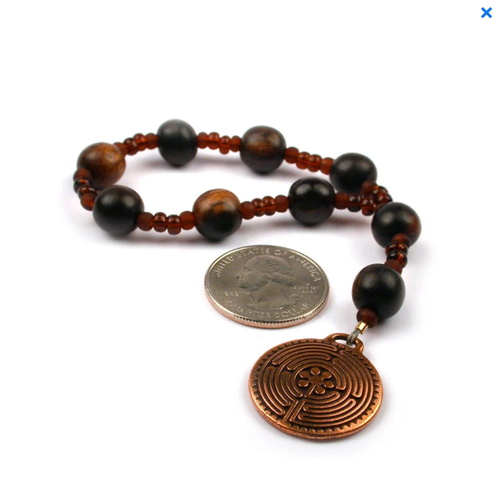 TIGER EBONY CHAPLET with LABYRINTH by FULL CIRCLE BEADS