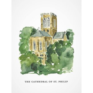 CATHEDRAL OF ST. PHILIP FOLDED CARDS Box of 8 by CAMILLA MOSS