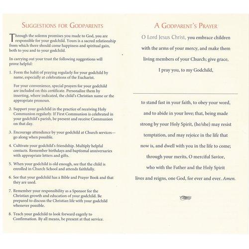 CERTIFICATES GODPARENT BAPTISM PK25