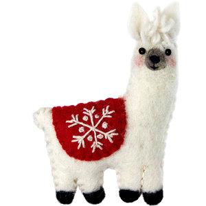 Felt Ornament Llama