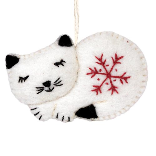 Felt Ornament Kitty Cat