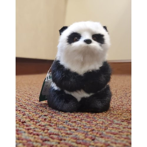 Furry Sitting Panda Ornament