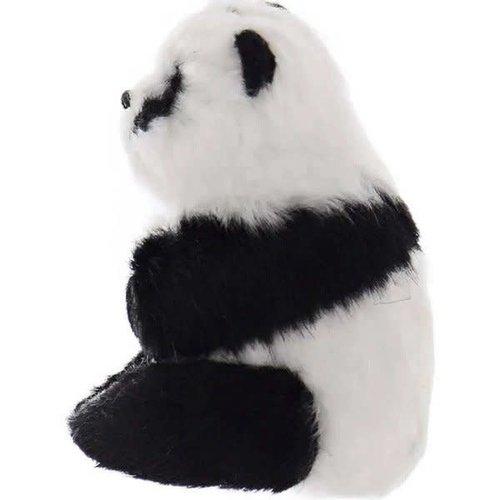 Furry Sitting Panda Ornament