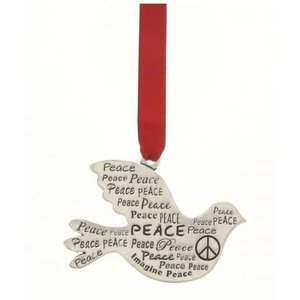 PEACE DOVE Pewter Ornament by Basic Spirit