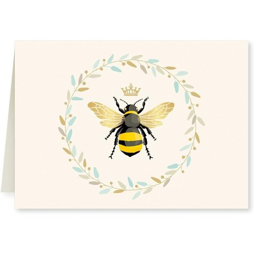 GOLD ACCENT NOTE CARDS Queen Bee