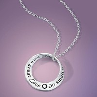 """NECKLACE MOBIUS """"DO SMALL THINGS WITH GREAT LOVE"""""""