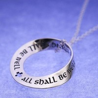 ALL SHALL BE WELL Mobius Sterling Necklace by Laurel Elliott