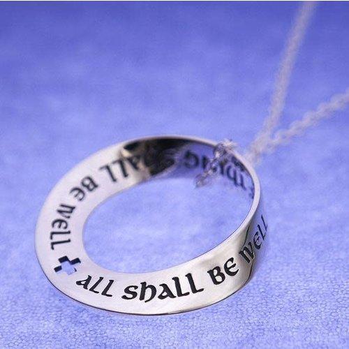 LAUREL ELLIOTT ALL SHALL BE WELL Mobius Sterling Necklace by Laurel Elliott
