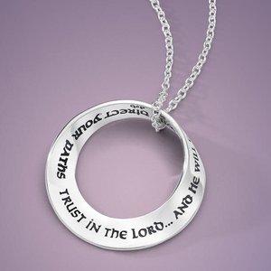 LAUREL ELLIOTT Trust in the Lord Sterling Mobius Necklace by Laurel Elliott