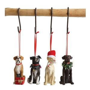 Dog Ornaments Assorted (Resin)