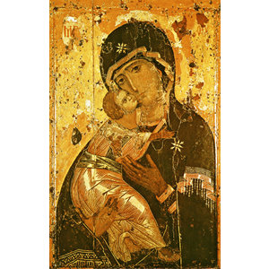 ICON THEOTOKOS OF VLADIMIR MED LGE