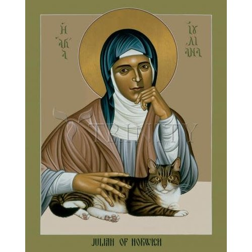 "JULIAN OF NORWICH - MEDIUM  5 1/2"" x 7"""